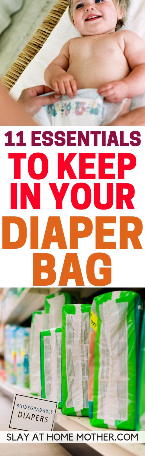 Diaper Bag Essentials - SLAYathomemother.com