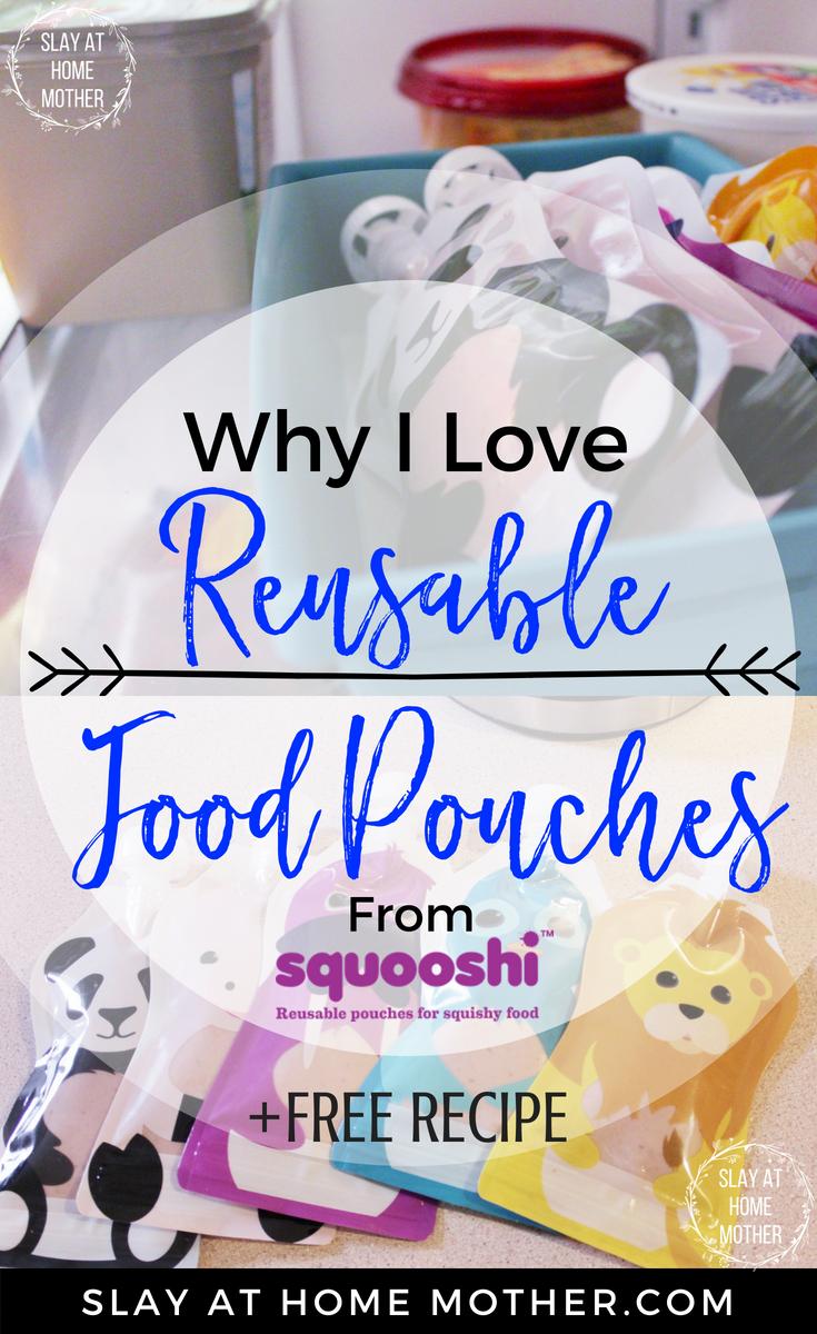 Squooshi Reusable Food Pouches +FREE RECIPE