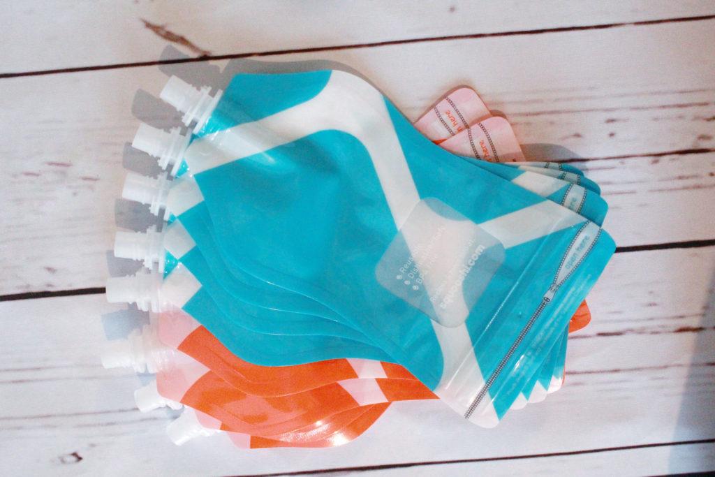 Squooshi Reusable Baby Pouches [Feature + Recipe] - slayathomemother.com