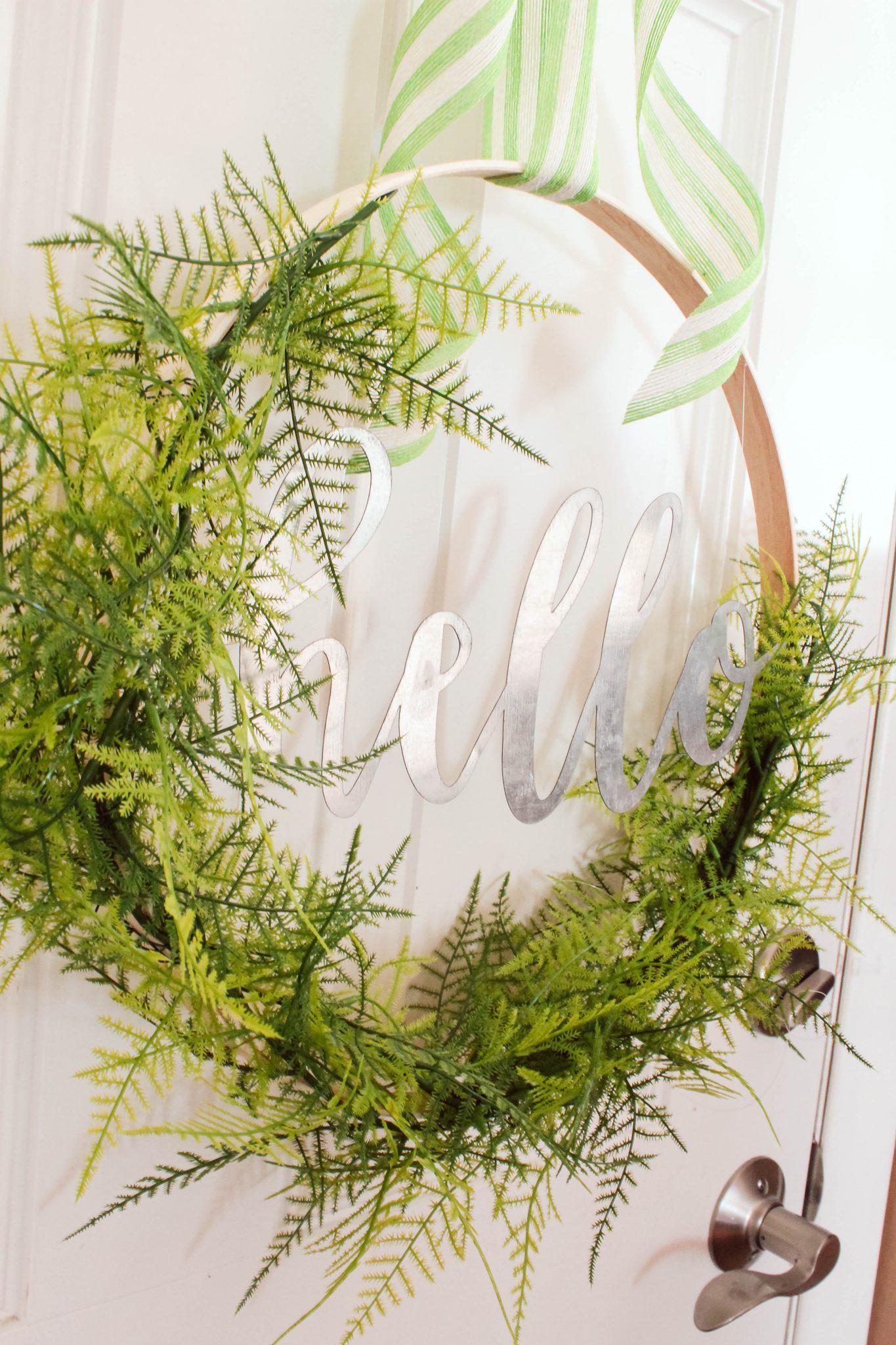 DIY Spring Hoop Wreath