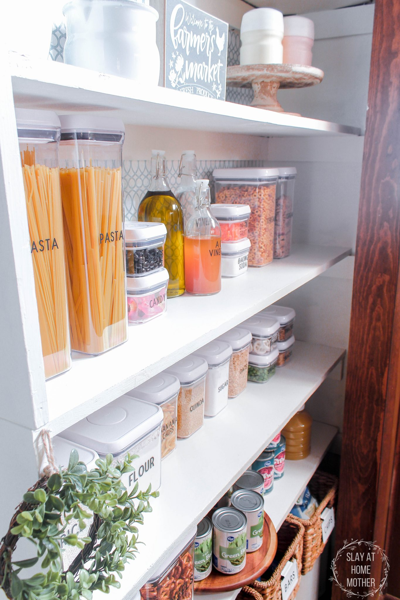 Farmhouse Pantry Organization And Refresh With OXO - SlayAtHomeMother.com