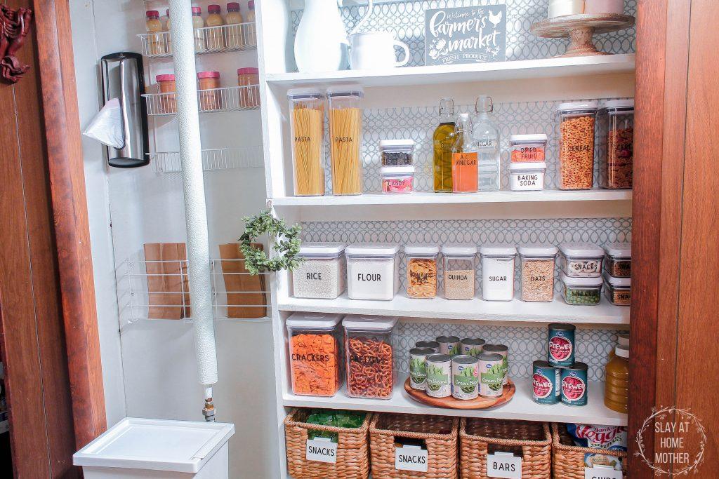Farmhouse Pantry Organization And Refresh With OXO - SlayAtHomeMother.com