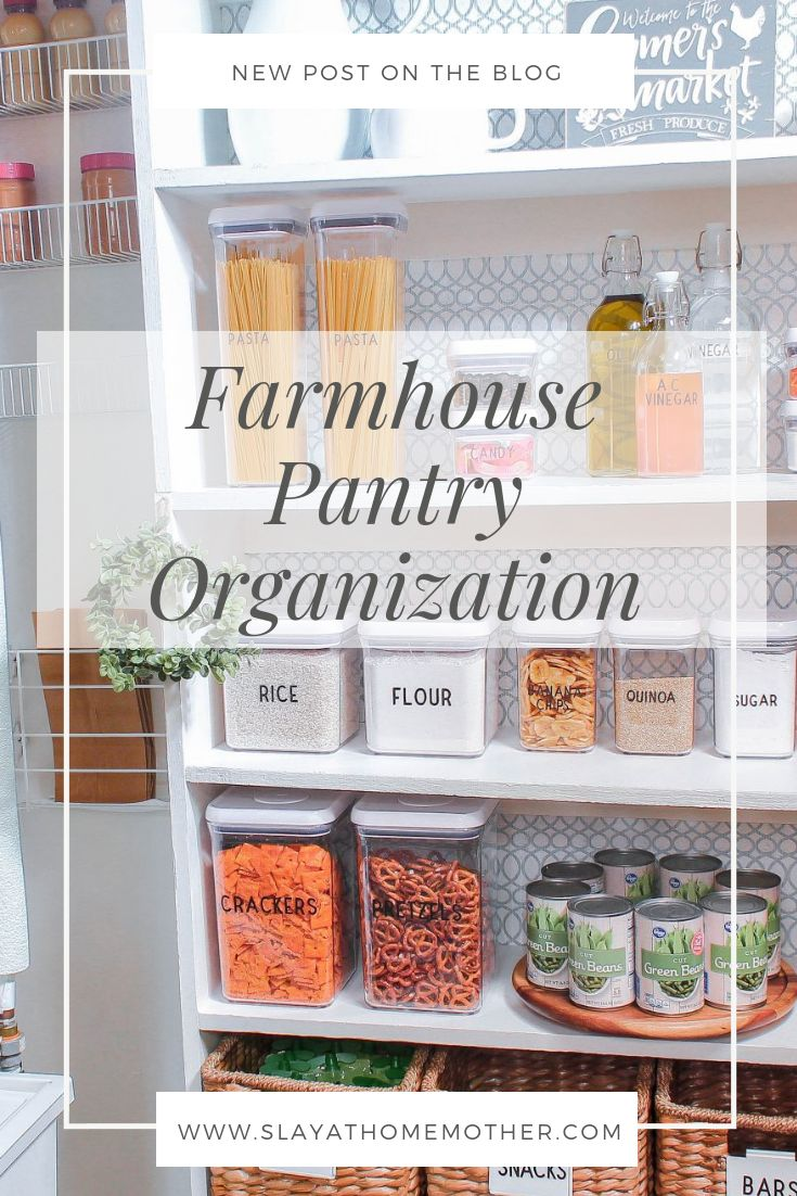 How to organize a small pantry on a budget! Organize, label, sort, and refresh your pantry on a dime (and get inspired to organize your small pantry) - SLAYathomemother.com