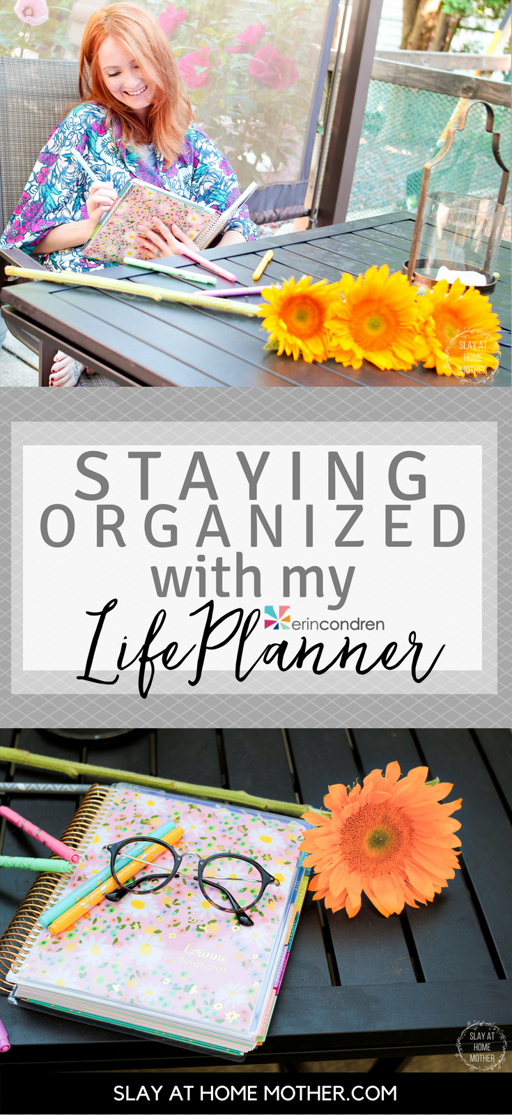 Staying Organized With My Erin Condren LifePlanner #lifeplanner #planner #erincondren #slayathomemother - SlayAtHomeMother.com