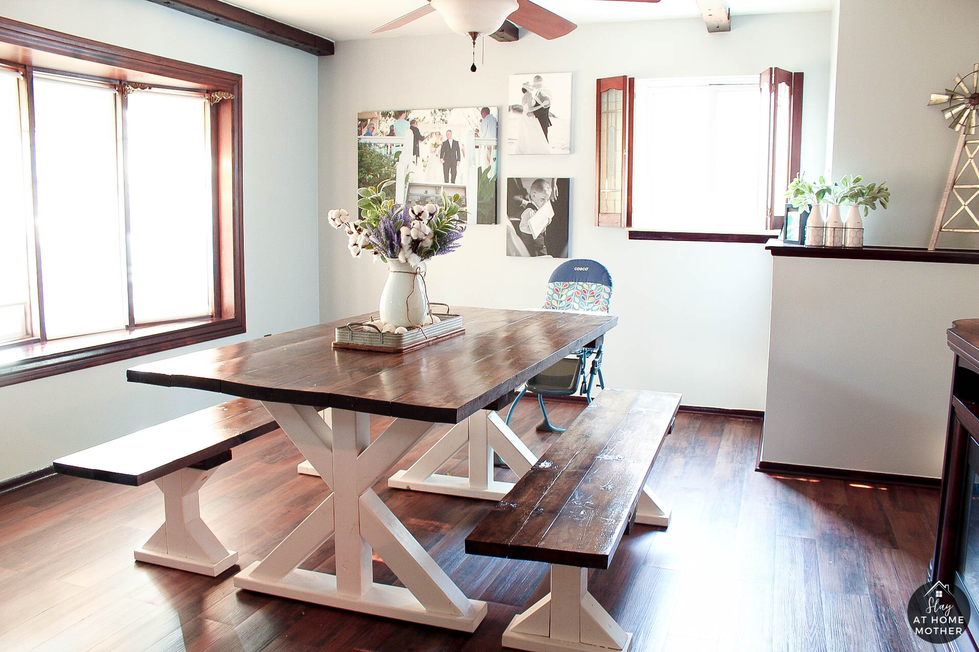 Farmhouse Dining Room Reveal wth Sherwin-Williams - SlayAtHomeMother.com