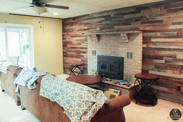 Accent Wall With Plank & Mill - SlayAtHomeMother.com