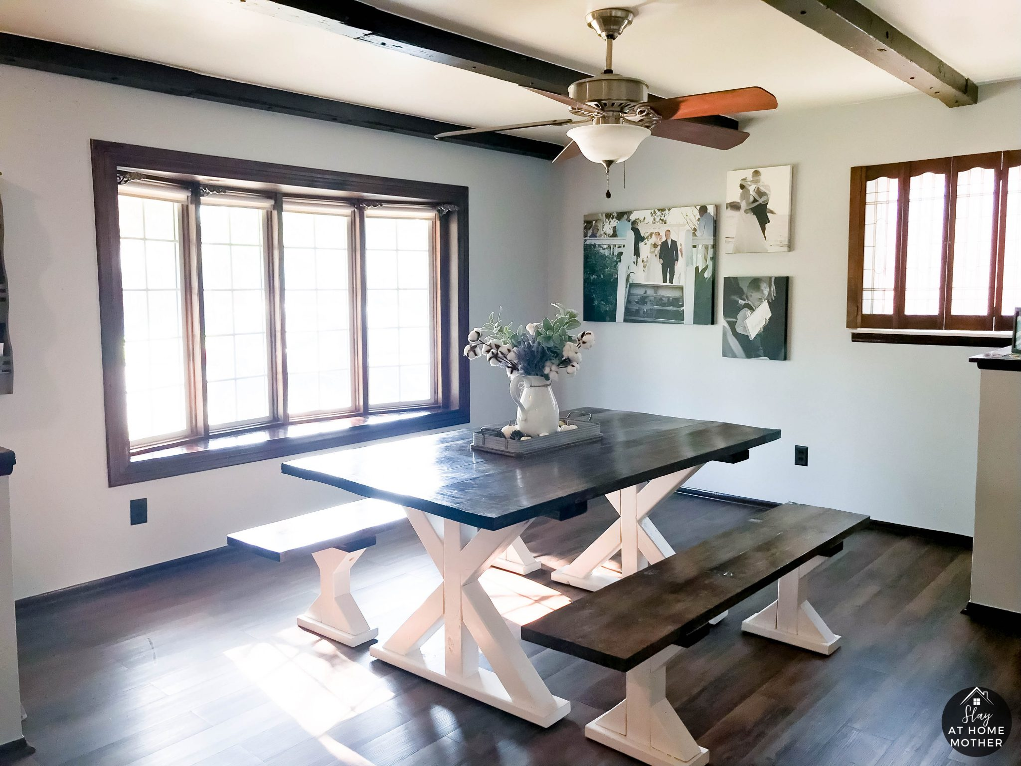 Farmhouse Dining Room Refresh Using Sherwin-Williams Gray Screen