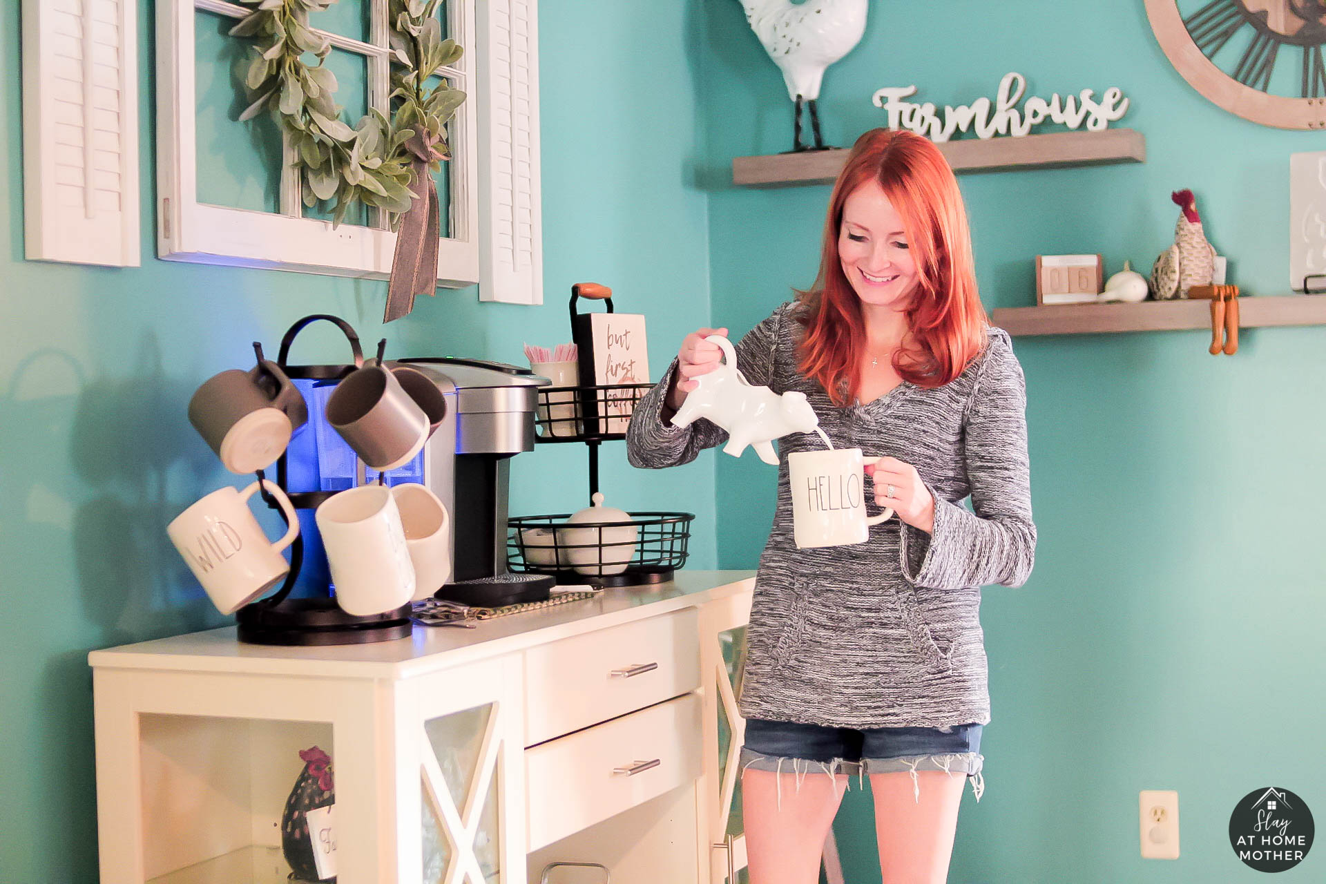 DIY Farmhouse Coffee Bar Refresh