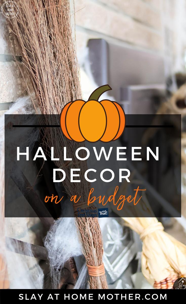 Halloween Decor On A Budget #halloween #falldecor #slayathomemother #sponsored - SlayAtHomeMother.com