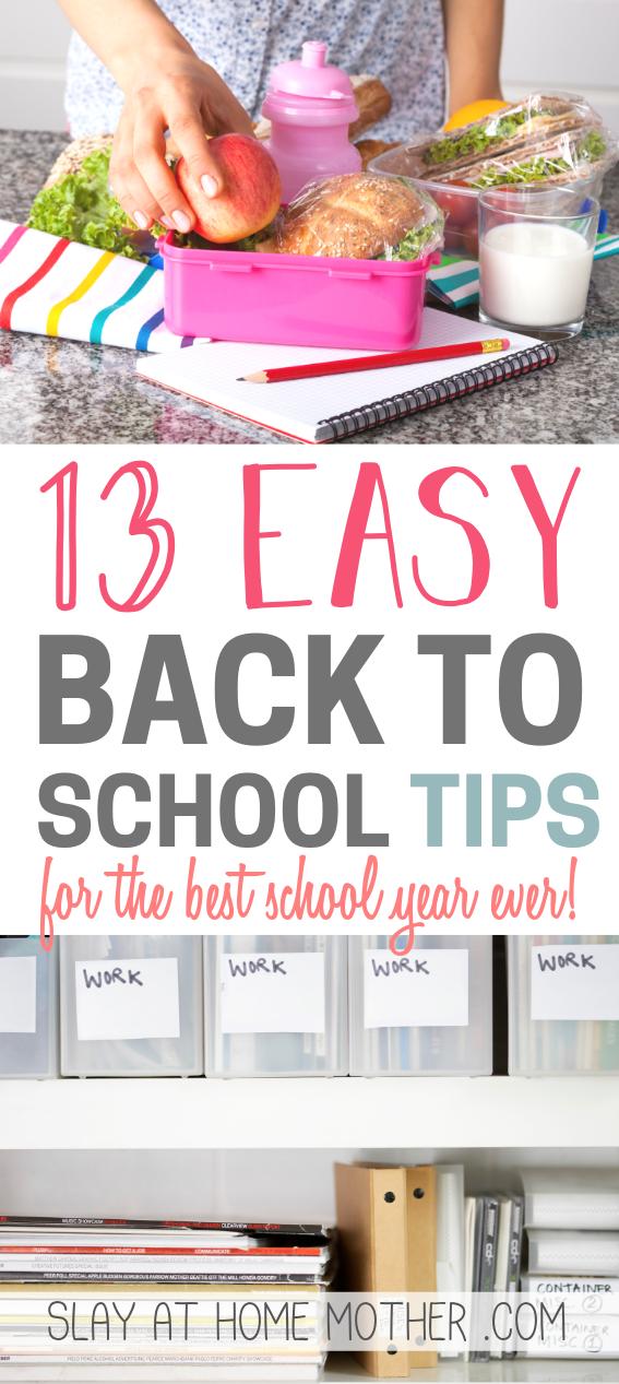13 Easy Back To School Tips - SLAYathomemother.com