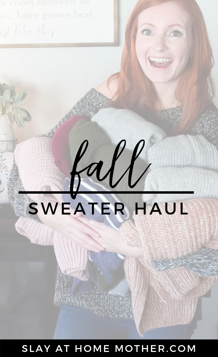 Fall Sweater Haul #shoppinghaul #fall #sweaters #slayathomemother - SlayAtHomeMother.com