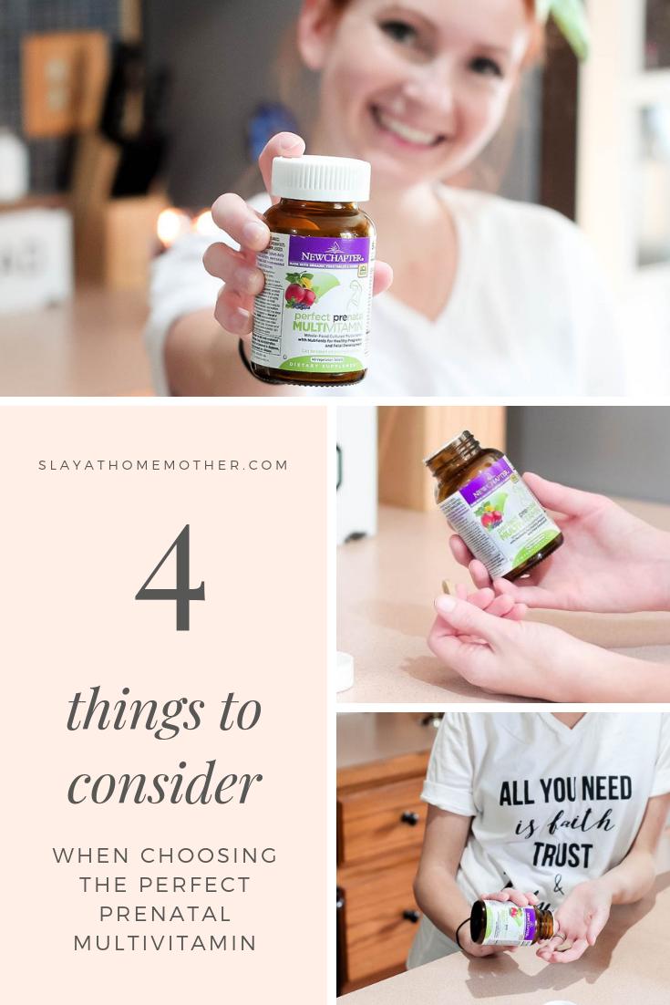 4 Things To Consider When Choosing prenatal vitamins for pregnancy #pregnant #prenatals #slayathomemother -- SlayAtHomeMother.com