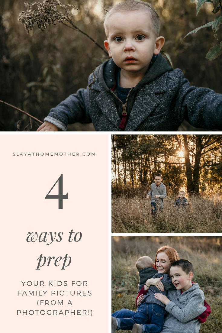 4 Ways To Prep Your Kids For Family Pictures That Your Photographer Wants You To Know! #familypictures #metrodetroit #slayathomemother -- SlayAtHomeMother.com