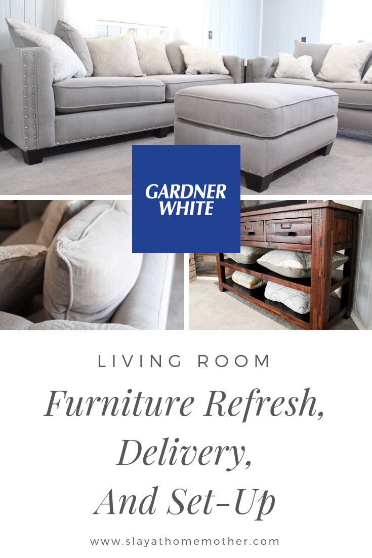 Living Room Refresh With #metrodetroit Gardner-White #furniturerefresh #slayathomemother -- SlayAtHomeMother.com