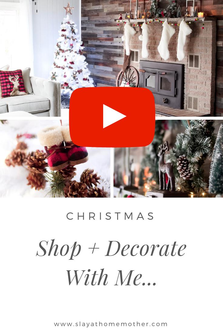 Decorate For Christmas With Me +Vlog #christmasdecor #farmhousedecor #slayathomemother -- SlayAtHomeMother.com