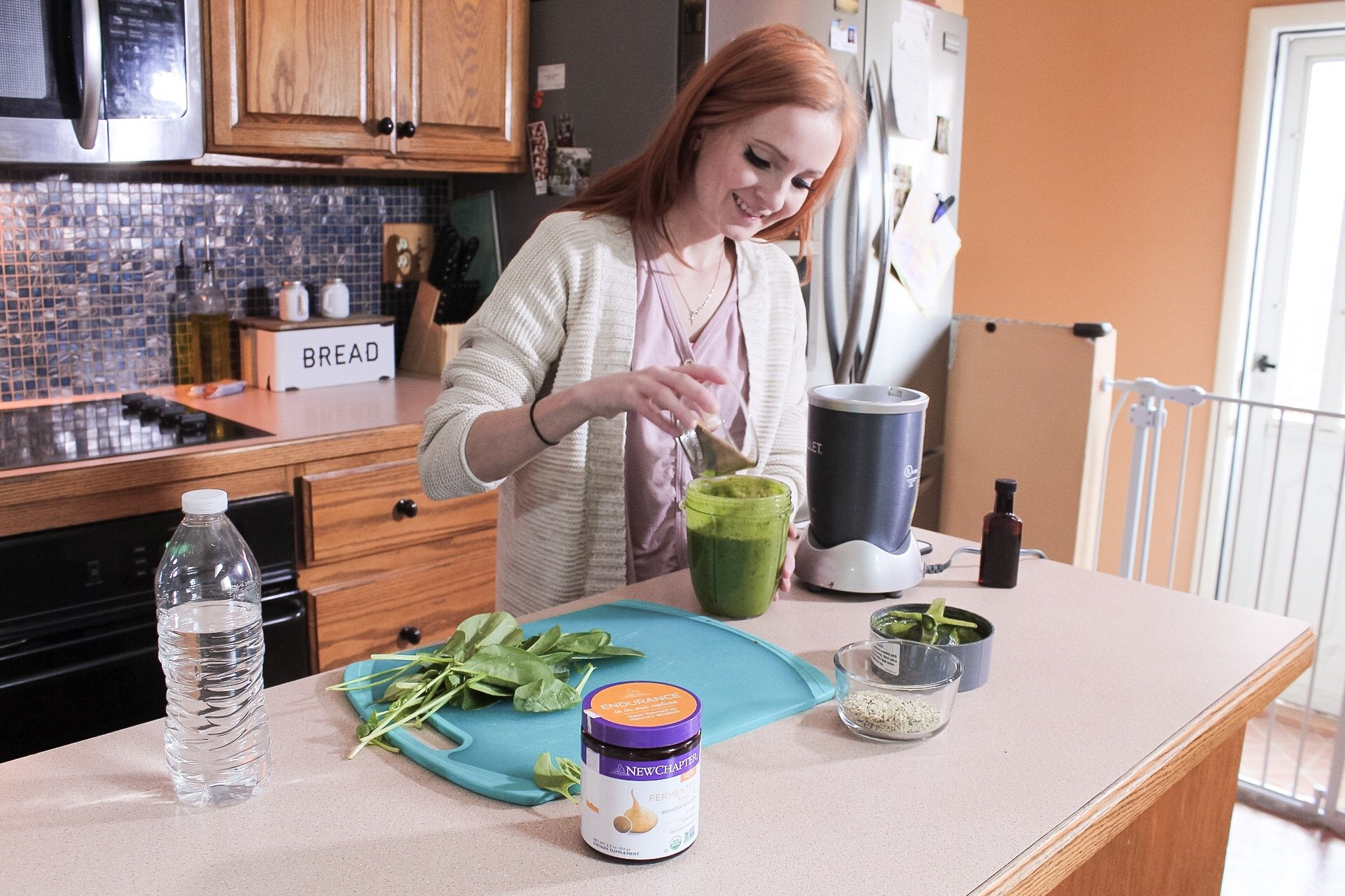 Maca Green Smoothie - That Actually Tasted Good! #newchaptervitamins #slayathomemother - SlayAtHomeMother.com
