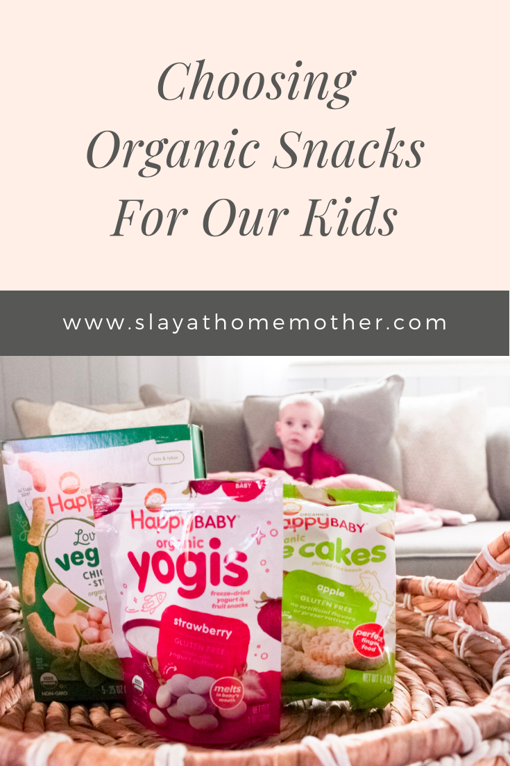 Choosing Organic Snacks For Our Kids #organic #kidssnacks #slayathomemother - SlayAtHomeMother.com