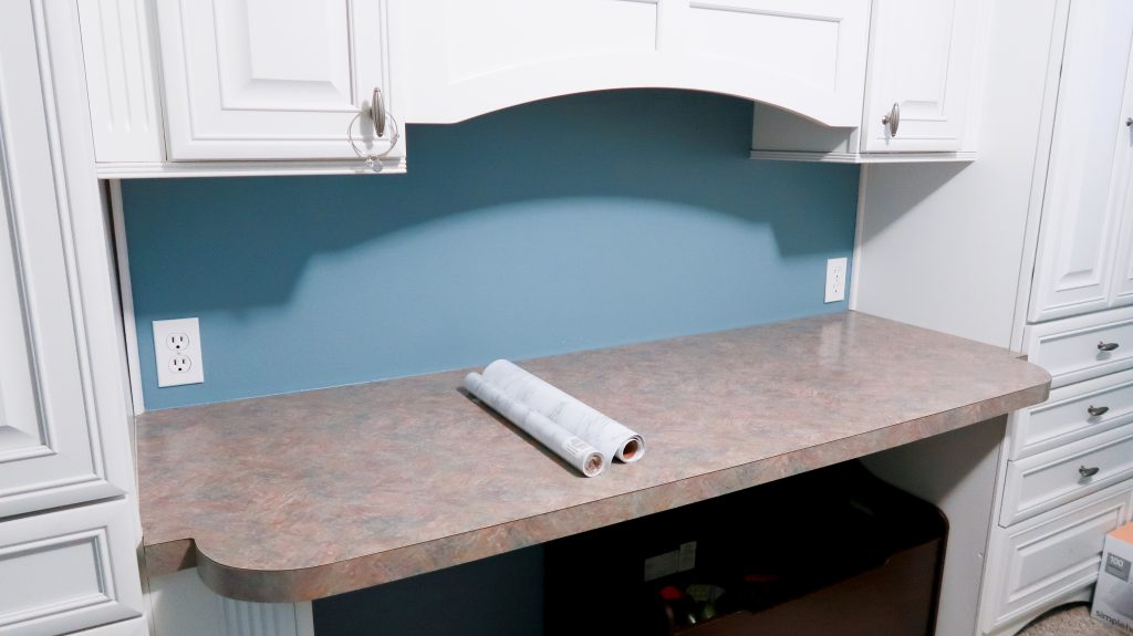 DIY Marble Countertops With Contact Paper via SlayAtHomeMother.com #contactpaper #diy #diycountertops #contactpapercounters #slayathomemother