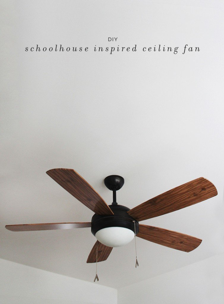 DIY Ceiling Fan Blades Makeover With Contact Paper via Almost Makes Perfect - SlayAtHomeMother.com