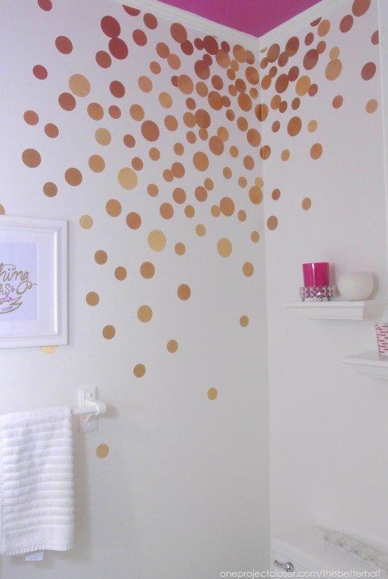 DIY Contact Paper Wall Decals via One Project Closer - SlayAtHomeMother.com