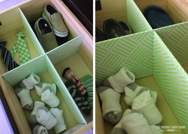 DIY Contact Paper Drawer Dividers via The Homes I Have Made - SlayAtHomeMother.com
