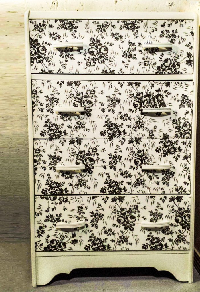 Dress Up Your Dresser With Contact Paper via Fancy Momma - SlayAtHomeMother.com
