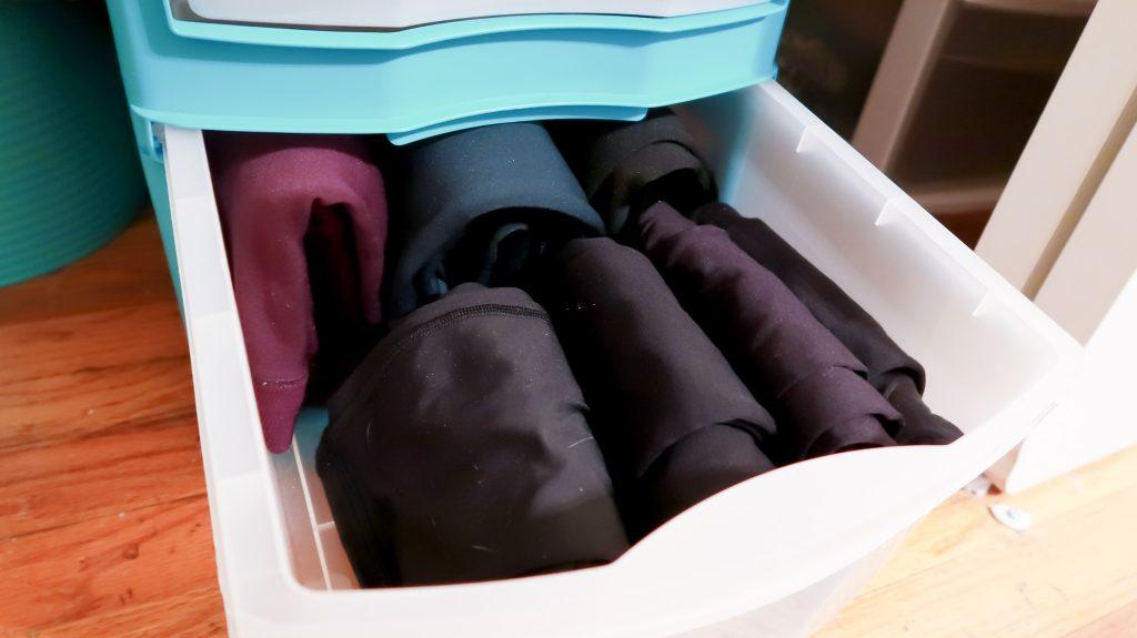 KonMari Folding And Organization via SlayAtHomeMother.com #konmari #slayathomemother #konmarimethod #organization #verticalfolding