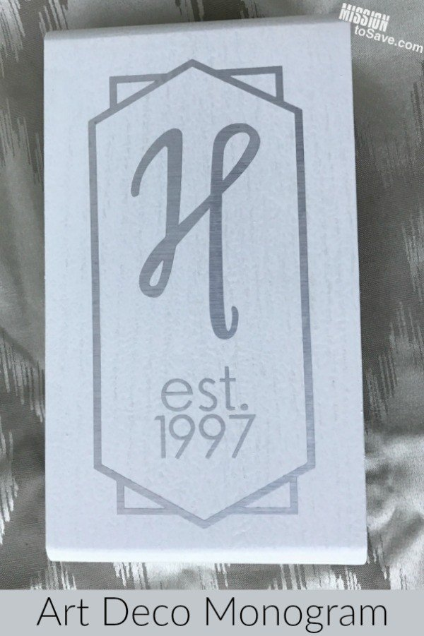 Art-Deco-Monogram-in-Vinyl- from MissionToSave.com -- SlayAtHomeMother.com