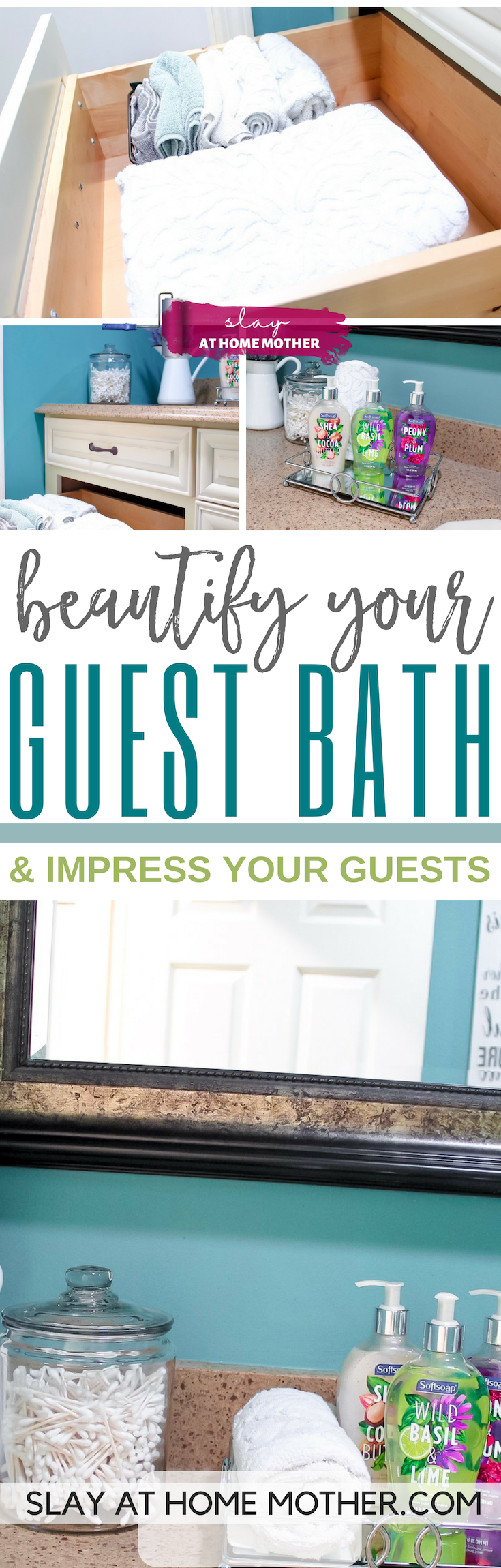 Beautify Your Guest Bath (And Impress Your Guests!) #ad #slayathomemother #bathroom -- SLAYathomemother.com