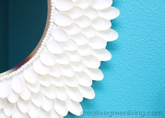 Designer-Inspired Chrysanthemum Sunburst Mirror From CreativeGreenLiving.com -- SlayAtHomeMother.com