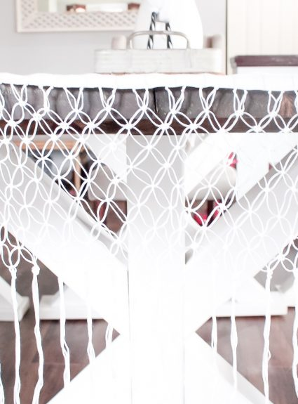 Easy DIY Macrame Table Runner