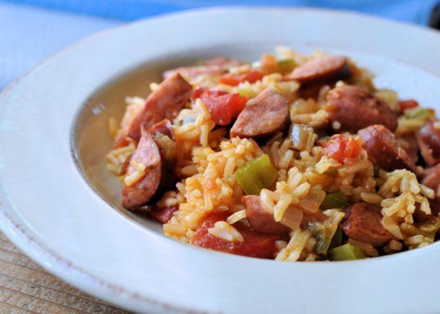 Easy Smoked Sausage Jambalaya From CookThisAgainMom.com