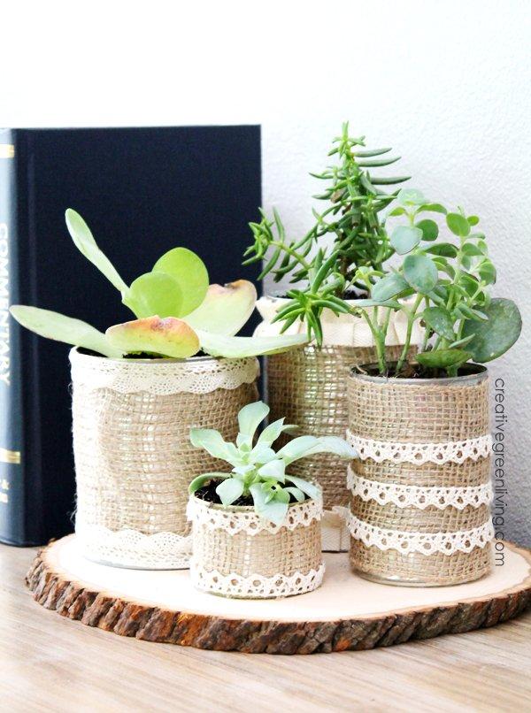 DIY Succulent Planters From CreativeGreenLiving.com -- SlayAtHomeMother.com
