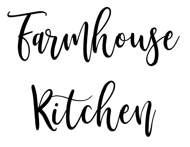 Farmhouse Kitchen Lettering Template from SLAYathomemother.com