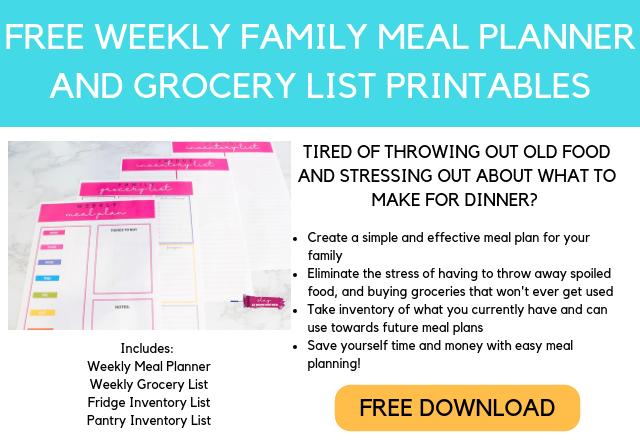 Free Weekly Meal Planner Printables