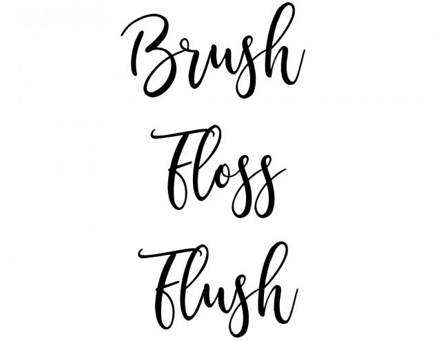 Brush, Floss, Flush (small) printable template from SLAYathomemother.com