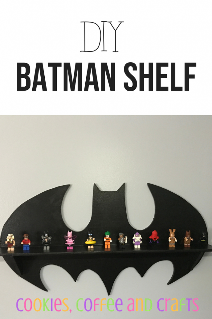 DIY Batman Shelf from Cookies Coffee And Crafts.com -- SlayAtHomeMother.com