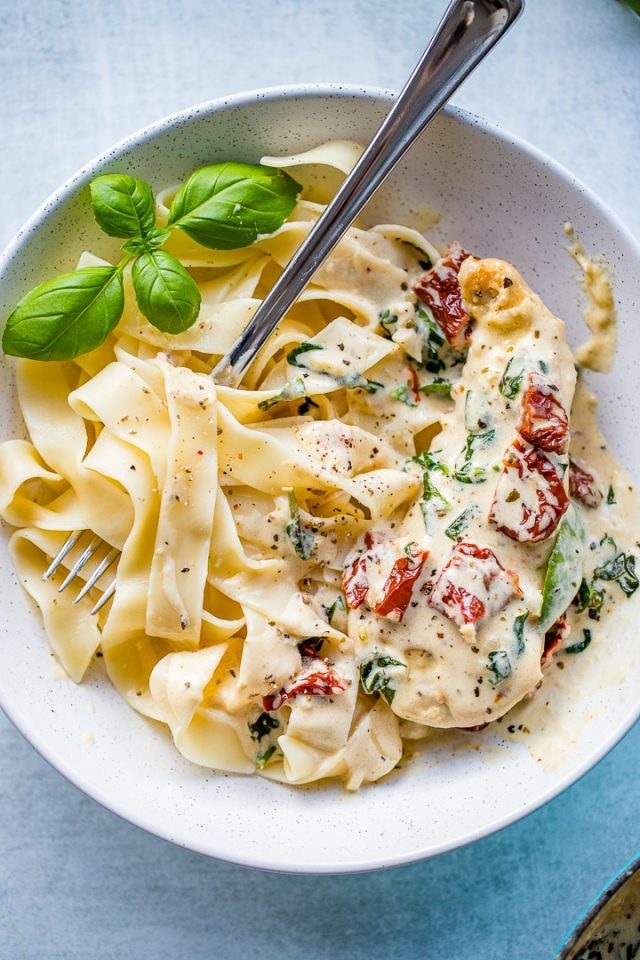 Creamy Tuscan Chicken From Nourish-And-Fete.com