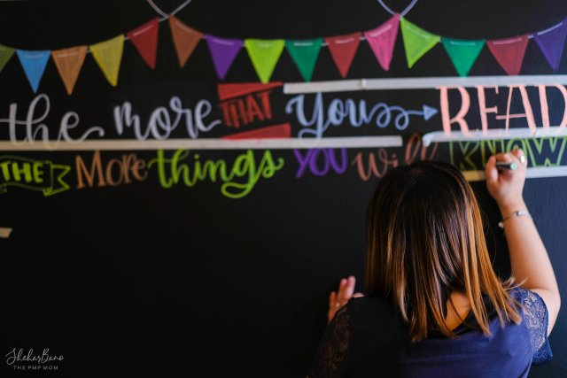DIY Chalkboard Wall from DiaryOfAPMPMom.com