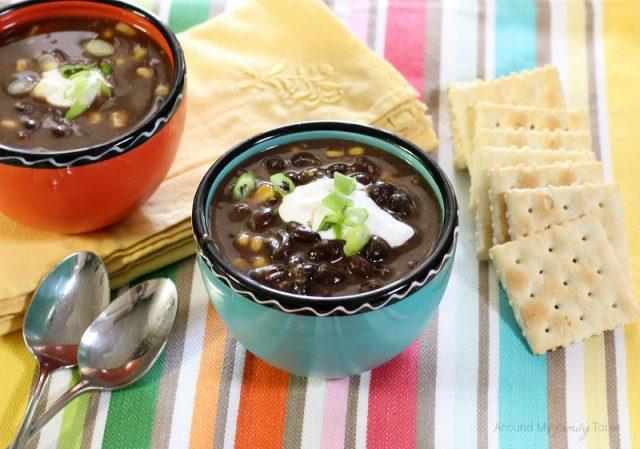 Black Bean Soup From AroundMyFamilyTable.com