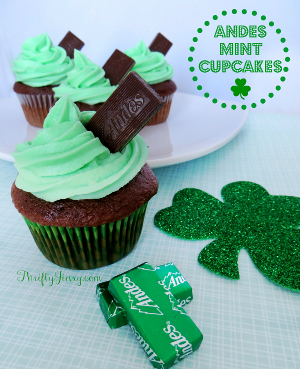 Andes-Mint-Cupcakes from ThriftyJinxy.com -- SLAYathomemother.com