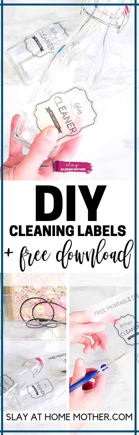DIY Cleaning Labels + Free Download #slayathomemother #diy #cleaninglabels - SLAYathomemother.com