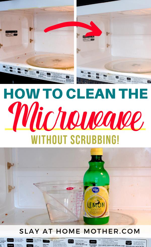 How To Clean Microwave With Lemon Juice #slayathomemother - SLAYathomemother.com