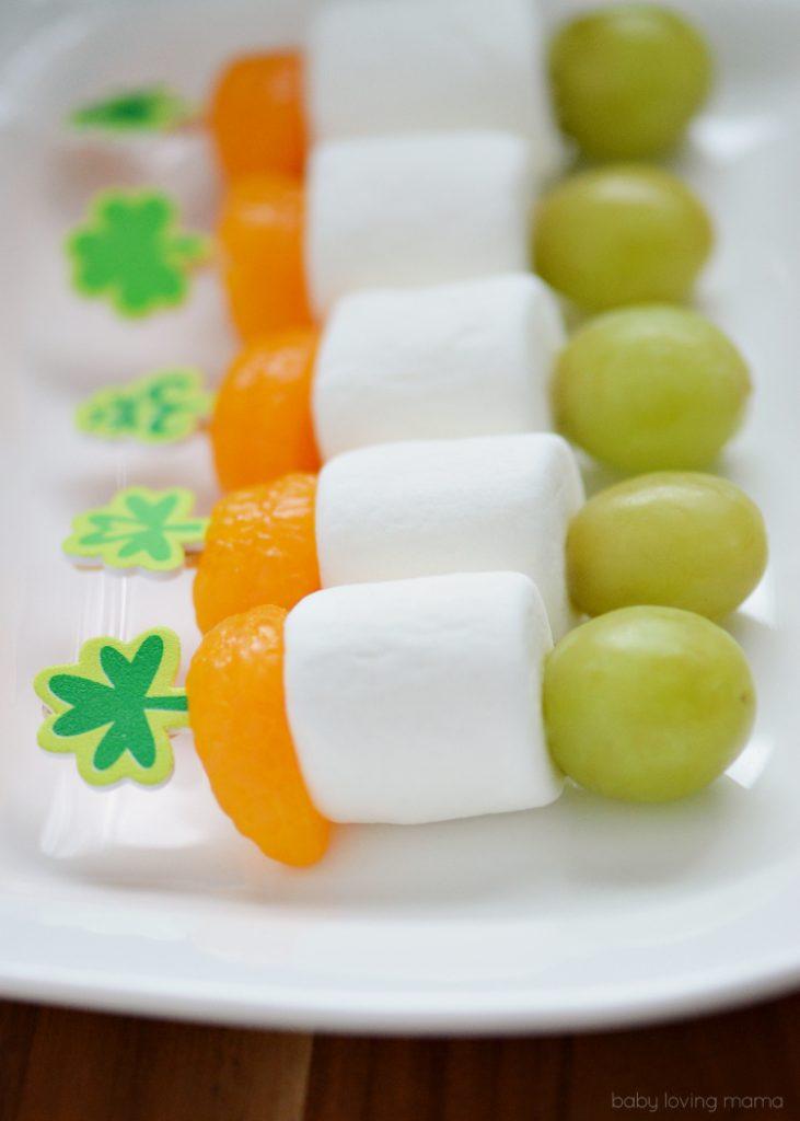 Irish-Flag-St-Patricks-Day-Fruit-Skewers from FindingZest.com - SLAYathomemother.com