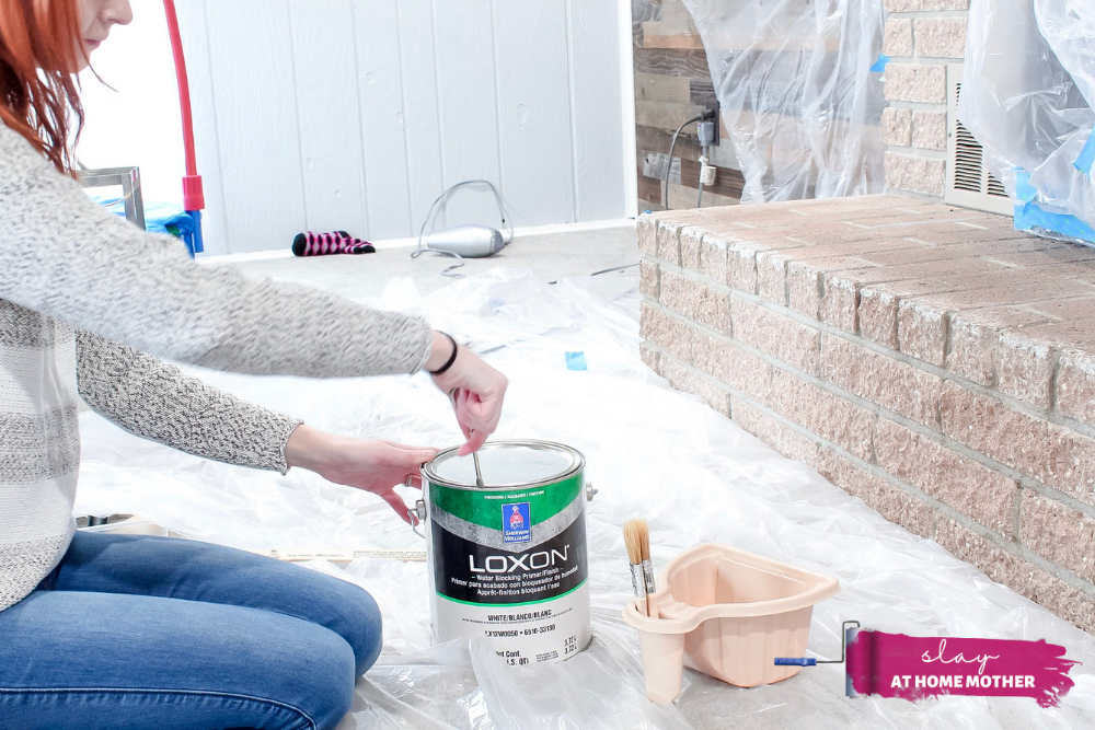 How To Paint A Brick Fireplace For Less Than $150 - Slay At