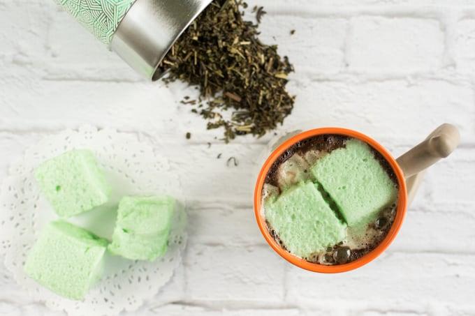 Mint-Tea-Homemade-Marshmallows-Recipe from Natashalh.com -- SLAYathomemother.com