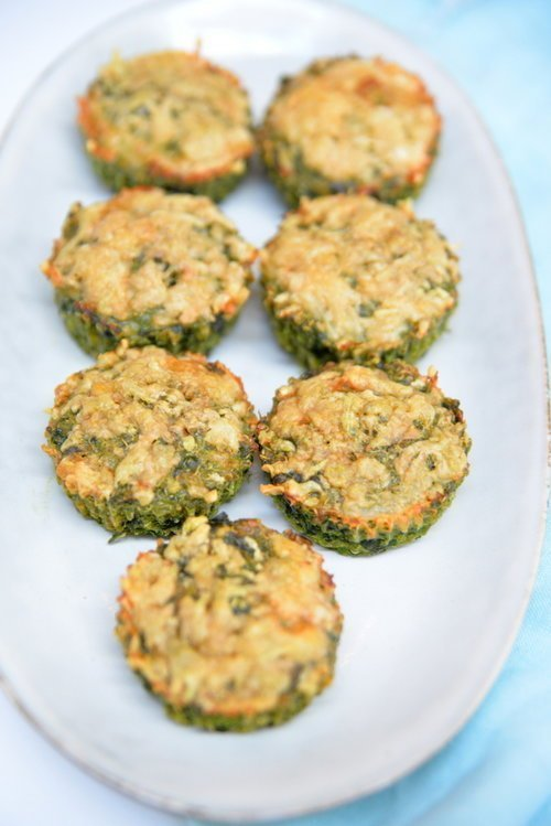 spinach and cheese quinoa cups