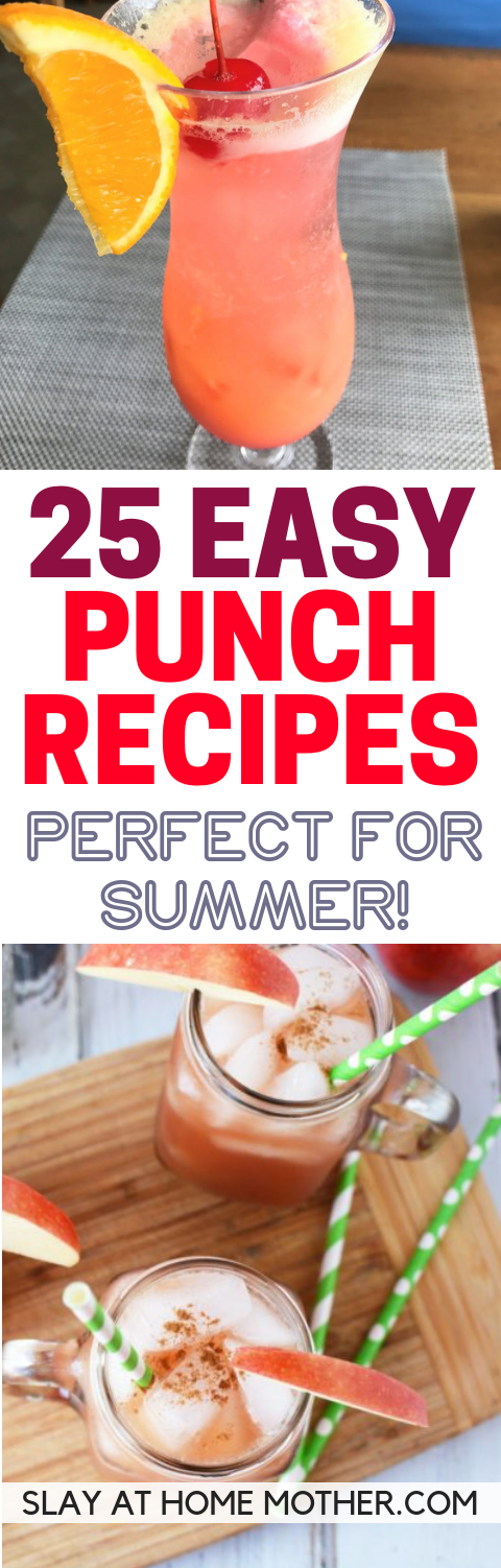 25 EASY Punch Recipes That Are Perfect For Summer!