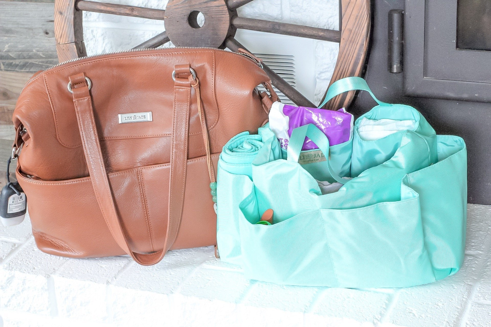 Lily Jade Shaylee Diaper Bag - SLAYathomemother.com