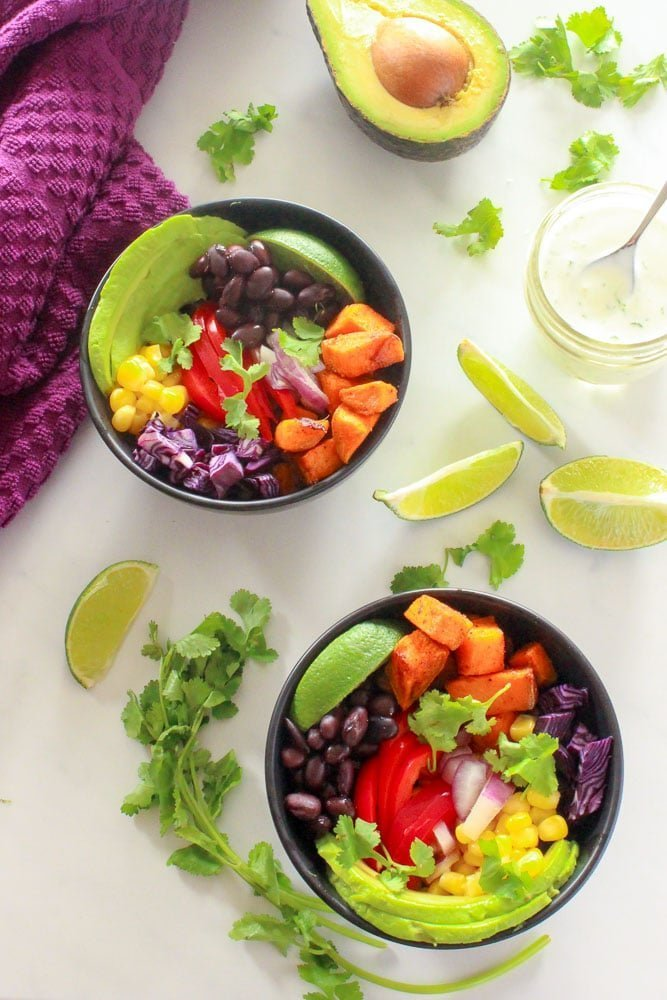 Mexican-Buddha-Bowl-with-Cilantro-Lime-Sauce-is-easy-and-so-tasty-perfect-for-meal-prep-and-clean-eating